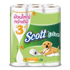 Scott Extra Super Jumbo Roll ยาวสุดพิเศษ( 24ม้วน/แพ็ค)