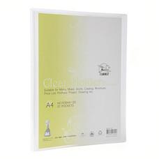 แฟ้มโชว์เอกสาร ฟลามิงโก้ 9084-40 23.8x31 ซม. A4 สีขาวใส