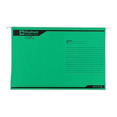 แฟ้มแขวน ตราช้าง 926 F4 สีเขียว(แพ็ค 10 เล่ม)