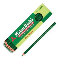 ดินสอเขียนกระจก มิตซูบิชิ 7600 สีเขียว(กล่อง 12 แท่ง)