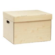 กล่องเก็บเอกสาร ลายไม้พาเลท ขนาด 37X44X30 ซ.ม. (แพ็ค 2 ใบ)