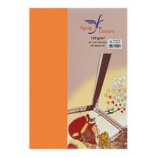 กระดาษสีถ่ายเอกสาร ฟลายอิ้ง No.23 120/100 A4 สีส้มเข้ม