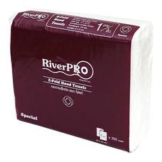 กระดาษเช็ดมือแบบแผ่น Z-Fold RiverPro 1 ชั้น 250 แผ่น ขนาด 21 x 23 cm.