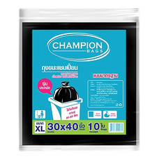 ถุงขยะแบบมาตรฐาน CHAMPION สีดำ ขนาด 30 x 40 นิ้ว ( บรรจุ 10 ใบ )