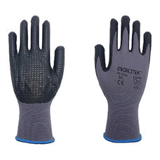 ถุงมือถักเคลือบไนไตร MICROTEX Hi-Grip (L)