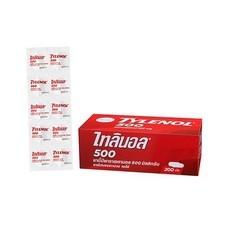ยาบรรเทาปวดลดไข้ ไทลินอล 500 mg. กล่อง 20 แผง ( แผง 10 เม็ด )