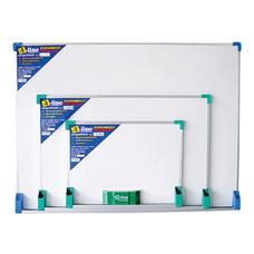 กระดานไวท์บอร์ทธรรมดาขอบอลูมีเนียม เอ-ไลน์ WN-80 80 x 120 ซม.