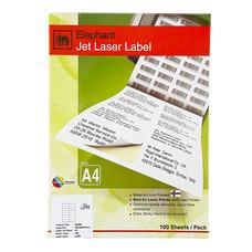 ป้ายสติกเกอร์ ช้าง Jet Laser#18-036 210x297มม.100 ป้าย(กล่อง 100 แผ่น)
