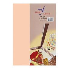 กระดาษสีถ่ายเอกสาร ฟลายอิ้ง No.11 120/100 A4 สีพีช