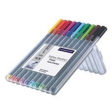 ปากกาหัวเข็ม สเต็ดเล่อร์ Triplus 334SB10 0.3 คละสี (10สี)