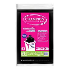 ถุงขยะชนิดก้นสตาร์ซีล CHAMPION สีดำ 18 X 20 นิ้ว ( บรรจุ 60 ใบ )