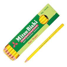 ดินสอเขียนกระจก มิตซูบิชิ 7600 สีเหลือง(กล่อง 12 แท่ง)