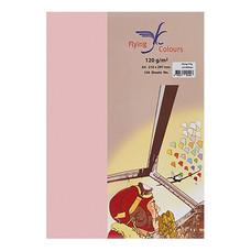 กระดาษสีถ่ายเอกสาร ฟลายอิ้ง No.18 160/50 A4 สีชมพู
