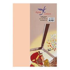 กระดาษสีถ่ายเอกสาร ฟลายอิ้ง No.11 160/50A4 สีพีช