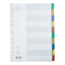 อินเด็กซ์พลาสติก ฟลามิงโก้ 9532A-10 (1-10 หยัก) คละสี