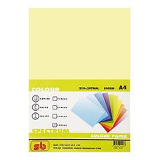 กระดาษสีถ่ายเอกสาร สเปคตรัม No.6 80/500 A4 สีเหลือง