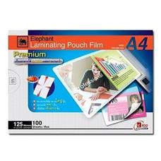 พลาสติกเคลือบบัตร ตราช้าง พรีเมี่ยม 125 ไมครอน A4(แพ็ค 100 แผ่น)