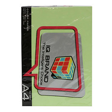 กระดาษสีถ่ายเอกสาร ไอคิว G2 80 แกรม A4 สีเขียวอ่อน (500 แผ่น/แพ็ก)