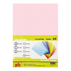 กระดาษสีถ่ายเอกสาร สเปคตรัม No.8 80/500 A4 สีชมพู