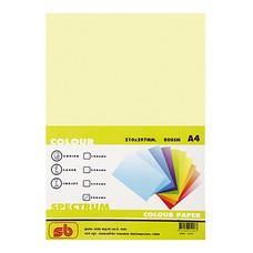 กระดาษสีถ่ายเอกสาร สเปคตรัม No.19 80/100 A4 สีเหลือง