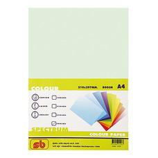 กระดาษสีถ่ายเอกสาร สเปคตรัม No.2 80/100 A4 สีเขียวอ่อน