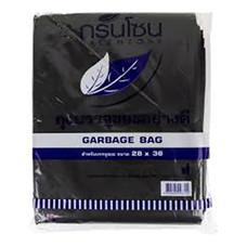 ถุงขยะ สีดำ กรีนโซน ขนาด 28x36