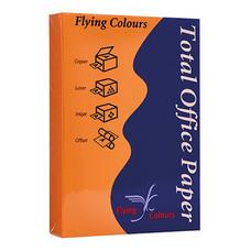 กระดาษสีถ่ายเอกสาร ฟลายอิ้ง No.23 80/500A4 สีส้มเข้ม