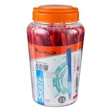 ปากกาลูกลื่น ควอนตั้ม สเก็ต 555 0.5 มม. แดง (กล่อง 50 ด้าม)