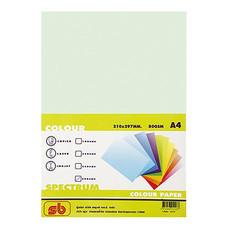กระดาษสีถ่ายเอกสาร สเปคตรัม No.2 80/500 A4 สีเขียว