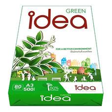 กระดาษถ่ายเอกสาร IDEA GREEN 80/500 A3