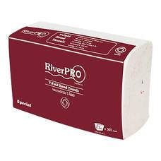 กระดาษเช็ดมือ RiverPro V-Fold 2 ชั้น 300 แผ่น