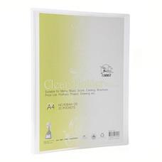 แฟ้มโชว์เอกสาร ฟลามิงโก้ 9084-20 23.8x31 ซม. A4 สีขาว