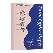 กระดาษสีถ่ายเอกสาร ฟลายอิ้ง No.18 80/500 A4 สีชมพู