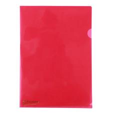 แฟ้มซองพลาสติก ตราช้าง 410A A4 สีแดง (แพ็ค 12 เล่ม)