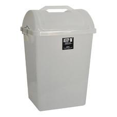 ถังขยะสี่เหลี่ยมฝาสวิง KEEP IN RW9258 (40 ลิตร) สีใส
