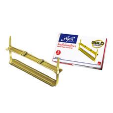 ลิ้นแฟ้มโลหะ เอลเฟ่น สีทอง (กล่อง 50 ชุด)