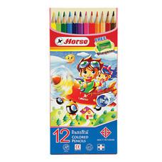 ดินสอสีไม้ ตราม้า H-2080 12 สี