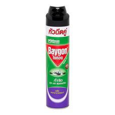 สเปรย์หัวฉีดคู่กำจัดยุง มด แมลงสาบ BAYGON กลิ่นลาเวนเดอร์ 600 มล.