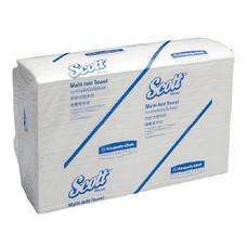 กระดาษเช็ดมือ Scott M-Fold ห่อละ 250แผ่น ขนาด 19.5x24.0 cm. (28620)