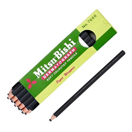ดินสอเขียนกระจก มิตซูบิชิ 7600 สีดำ(กล่อง 12 แท่ง)