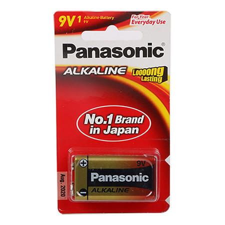 ถ่านอัลคาไลน์ พานาโซนิค 6LR61T/1B 9V(แพ็ค 1 ก้อน)