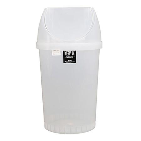 KEEP IN ถังขยะกลมคลีนเมทฝาสวิง สแตนดาร์ด RW9293 45 ล. สีใส