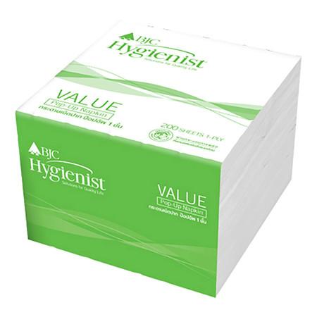 กระดาษเช็ดปาก Pop-Up BJC Hygienist Value 200 แผ่น แพ็ค 12