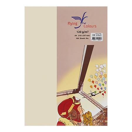 กระดาษสีถ่ายเอกสาร ฟลายอิ้ง No.04 160/50 A4 ครีม