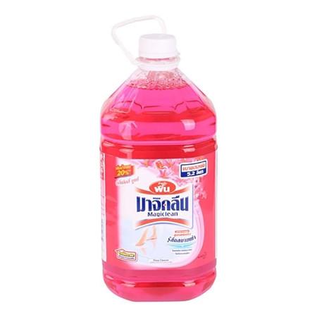 น้ำยาถูพื้นมาจิคลีน สีชมพู กลิ่นลิลลี่ บูเก้ 5200 มล.