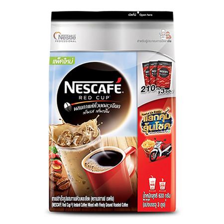 กาแฟ เนสกาแฟเรดคัพ ชนิดกล่อง (630กรัม) แพ็ค 210 กรัม x 3ถุง