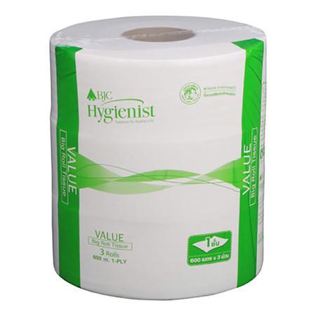 กระดาษชำระม้วนใหญ่ BJC Hygienist Value 1 ชั้น 600 m..