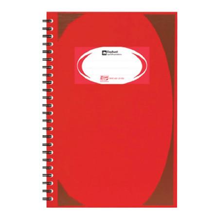 สมุดบันทึกมุมมันสันห่วง ตราช้าง WHC-403 สีแดง