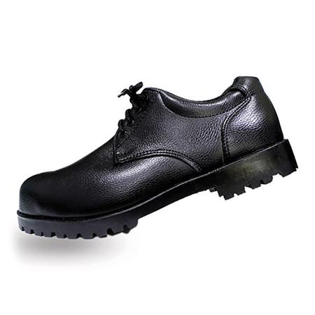 รองเท้าเซฟตี้หุ้มส้น หนัง PVC แบบผูกเชือก A-TAP รุ่น V-01 Size 39 สีดำ