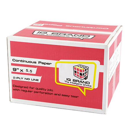 กระดาษต่อเนื่อง ไอคิว 9x5.5